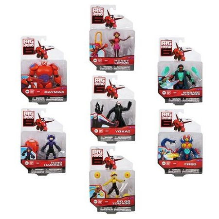 Big Hero 6 Action Figure Set 7 Characters Baymax Yokai Go Go Tomago Honey Lemon Wasabi No Ginger Fred And Hiro Hamada Most Popular Kids Toys