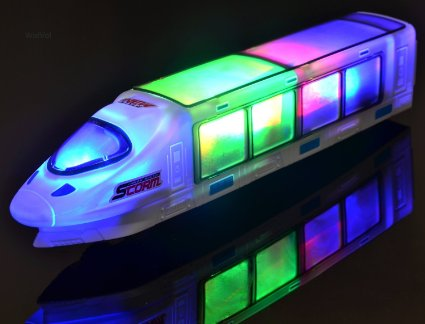 WolVol Beautiful 3D Lightning Electric Train Toy with Music